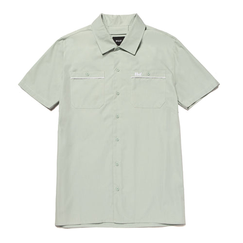 HUF Gas Station Shirt Harbor Grey