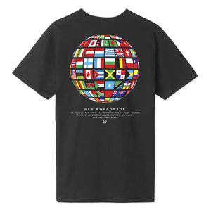 HUF Global Wave T-Shirt Black