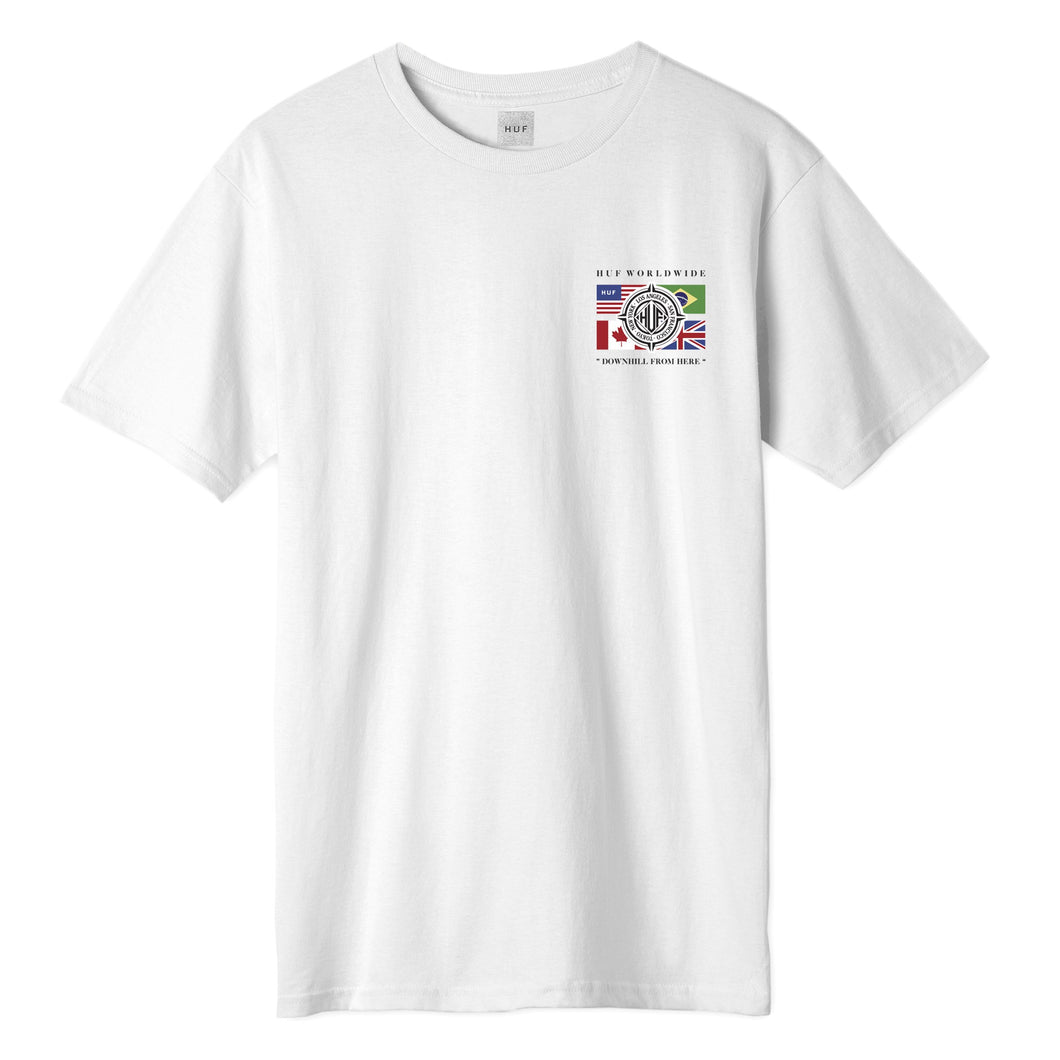 HUF Global Wave T-Shirt White