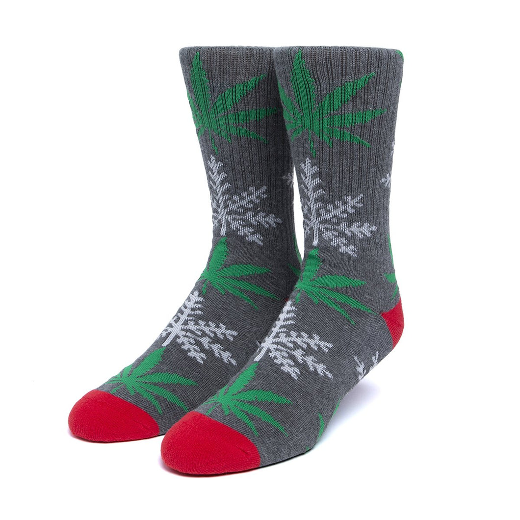 HUF Glow-flake Plantlife Sock Charcoal Heather