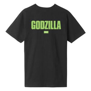 HUF GODZILLA BAR LOGO T-SHIRT Black
