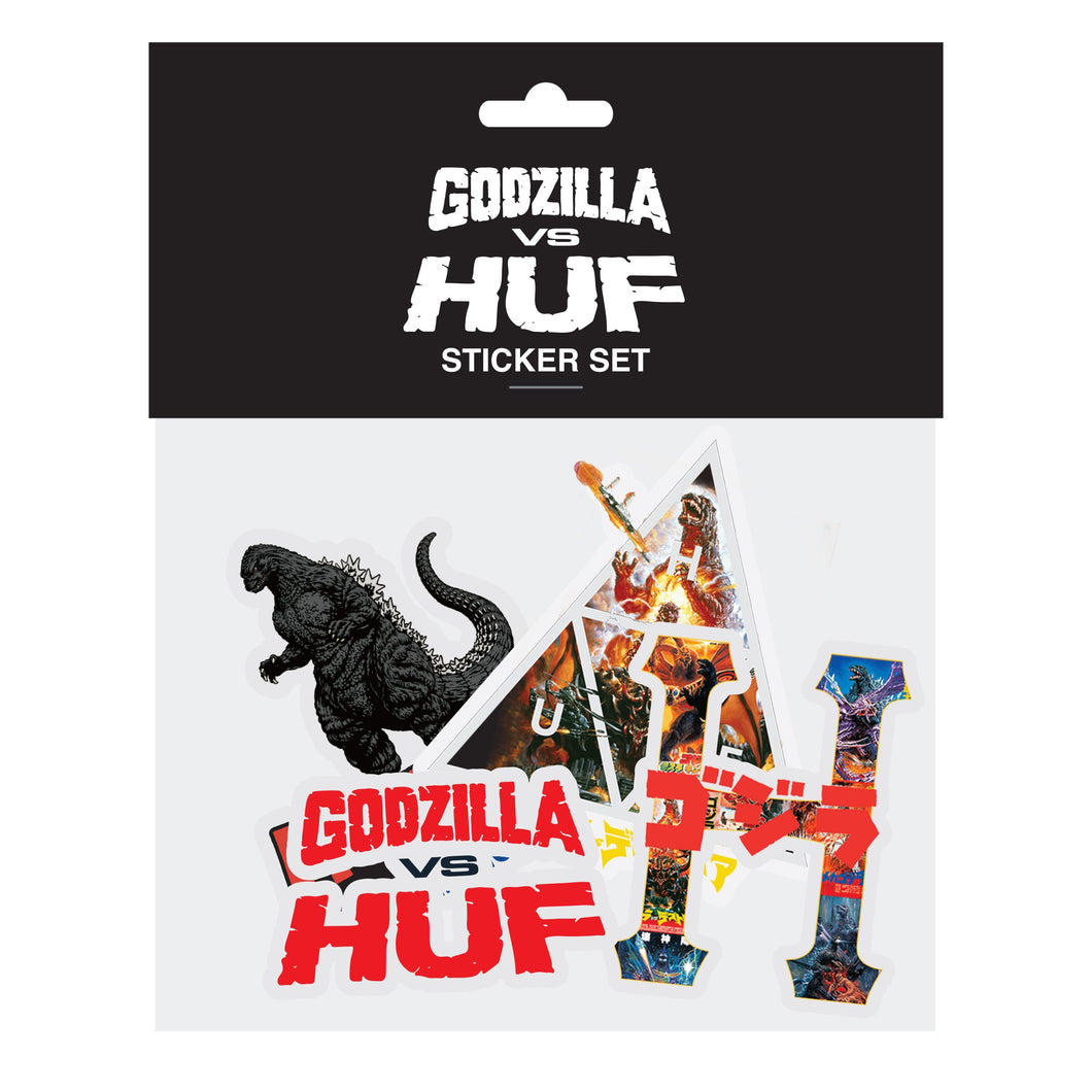 HUF GODZILLA VS HUF STICKER PACK Multi