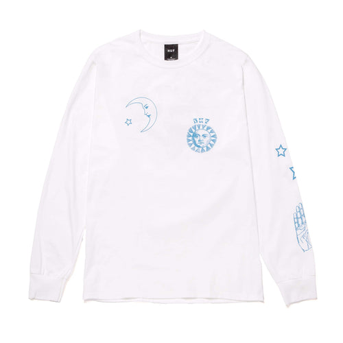 HUF Gratefully Yours Long Sleeve T-Shirt White