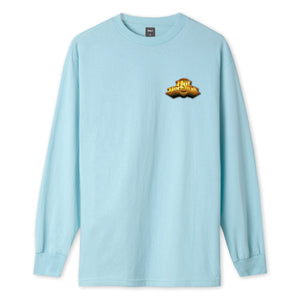 HUF Greatest Hits Long Sleeve T-Shirt Mens LS Tee Greek Blue