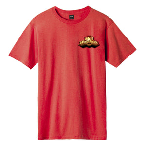 HUF Greatest Hits T-Shirt Mens Printed Tee Mandarin Red