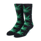 Load image into Gallery viewer, HUF Green Buddy Sock Black