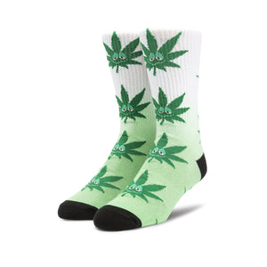 HUF Green Buddy Tiedye Plantlife Sock Green/White