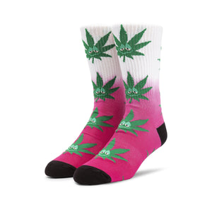 HUF Green Buddy Tiedye Plantlife Sock Hot Pink