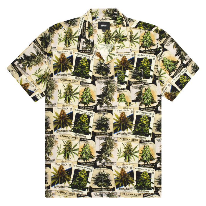 HUF GREEN THUMB S/S WOVEN TOP Green