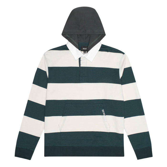 HUF Hayes Rugby Shirt Mens LS Polo Sycamore