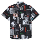 Load image into Gallery viewer, HUF Headlines Short Sleeve Woven Shirt Black