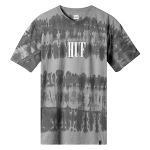 HUF Horizons Striped T Shirt Mens Printed Tee Charcoal