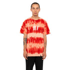 Load image into Gallery viewer, HUF Horizons Striped T Shirt Mens Printed Tee Poppy