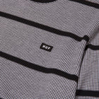 Load image into Gallery viewer, HUF Houndstooth Stripe Long Sleeve Knit Black