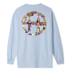 HUF HUF Erotica Long Sleeve T-Shirt Light Blue