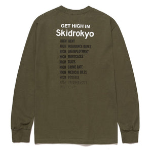 Huf Skidrokyo Get High Longsleeve T-shirt Military Green