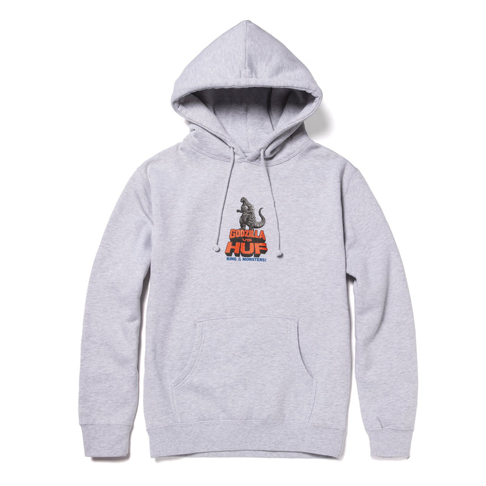 HUF HUF VS GODZILLA PULLOVER HOODIE GREY HEATHER
