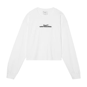 HUF HUF Worldwide EMB Long Sleeve T-Shirt Womens LS Shirt White