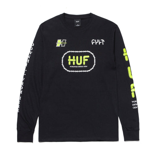Huf X Cult Long Sleeve T-shirt Black