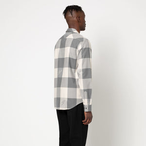 HUF Heights Flannel Long Sleeve Woven Shirt Mens  Grey