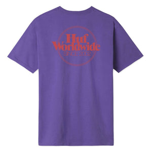 HUF Mens Issue Logo Pocket T-Shirt Ultra Violet