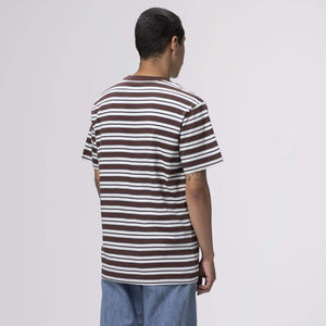 Huf Jett Stripe Short Sleeve Knit Top Deep Mahogany