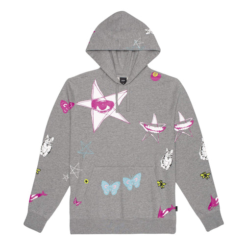 Huf Kei Pullover Hoodie Grey Heather