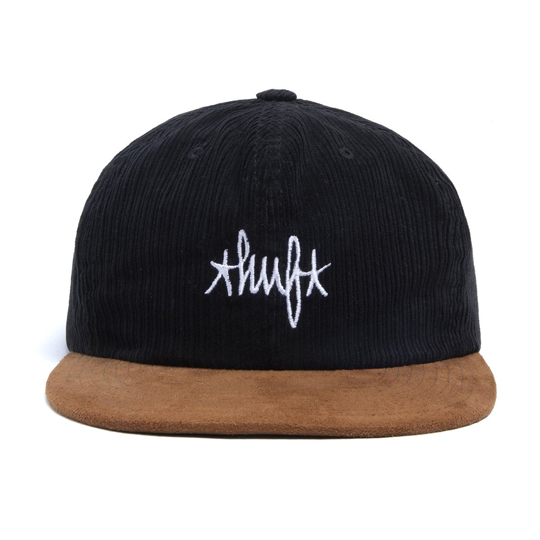 HUF Landmark Cord 6 Panel Hat Black