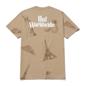 HUF Landmarks T-Shirt Unbleached