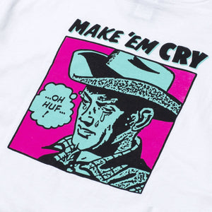 HUF Make Em Cry Dude T-Shirt White