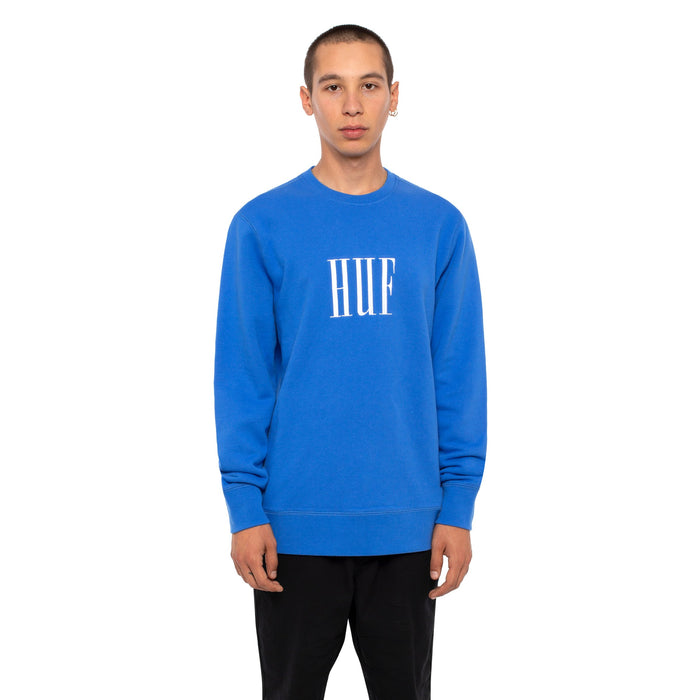 HUF Marka Supply Crew Mens Sweater Nebulas Blue