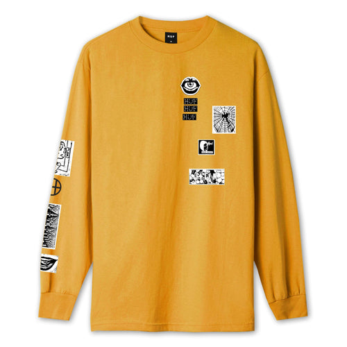Huf Masters Long Sleeve T-shirt Electric Orange