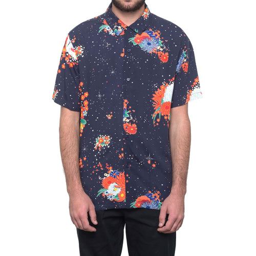 HUF Memorial Short Sleeve Woven Shirt Mood Indigo