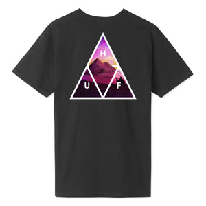 HUF Mirage Triple Triangle T-Shirt Black