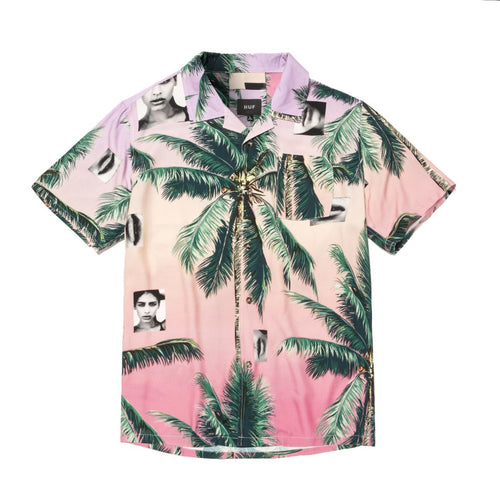 HUF Molly Resort Shirt Coral Pink