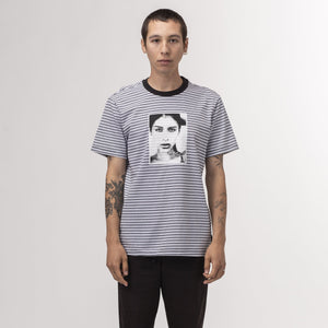 HUF Molly Striped Shirt White