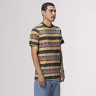 Load image into Gallery viewer, Huf Monarch Stripe Short Sleeve Knit Top Camel