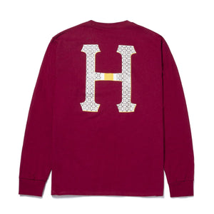 HUF Monogram Classic H Long Sleeve T-Shirt Brick