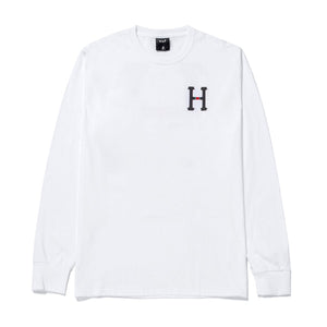 HUF Monogram Classic H Long Sleeve T-Shirt White