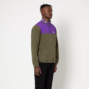 HUF Mountain 10K 1/4 Zip Mens Fleece Dusty Olive