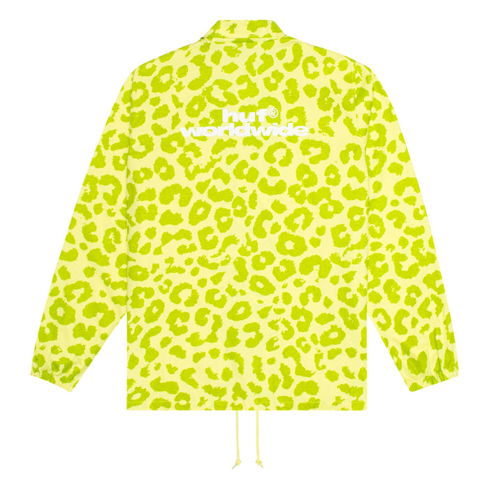 HUF Neo Leopard Coach Jacket Mens Jacket Hot Lime