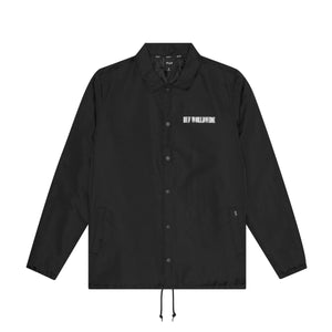 HUF Neue Marka Coaches Jacket Mens Jacket Black