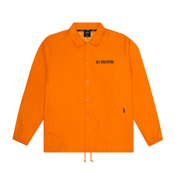 HUF Neue Marka Coaches Jacket Mens Jacket Russet Orange