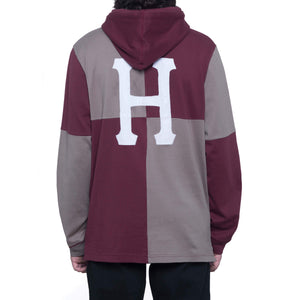 HUF Nostalgia Rugby Long Sleeve Shirt Port Royale