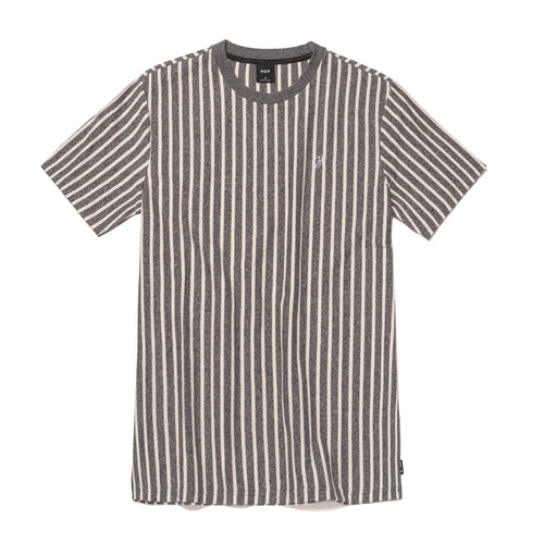 HUF Overdyed Vert Stripe Shirt Off White