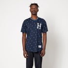 Load image into Gallery viewer, HUF Paisley Warm Up Jersey Navy Blazer