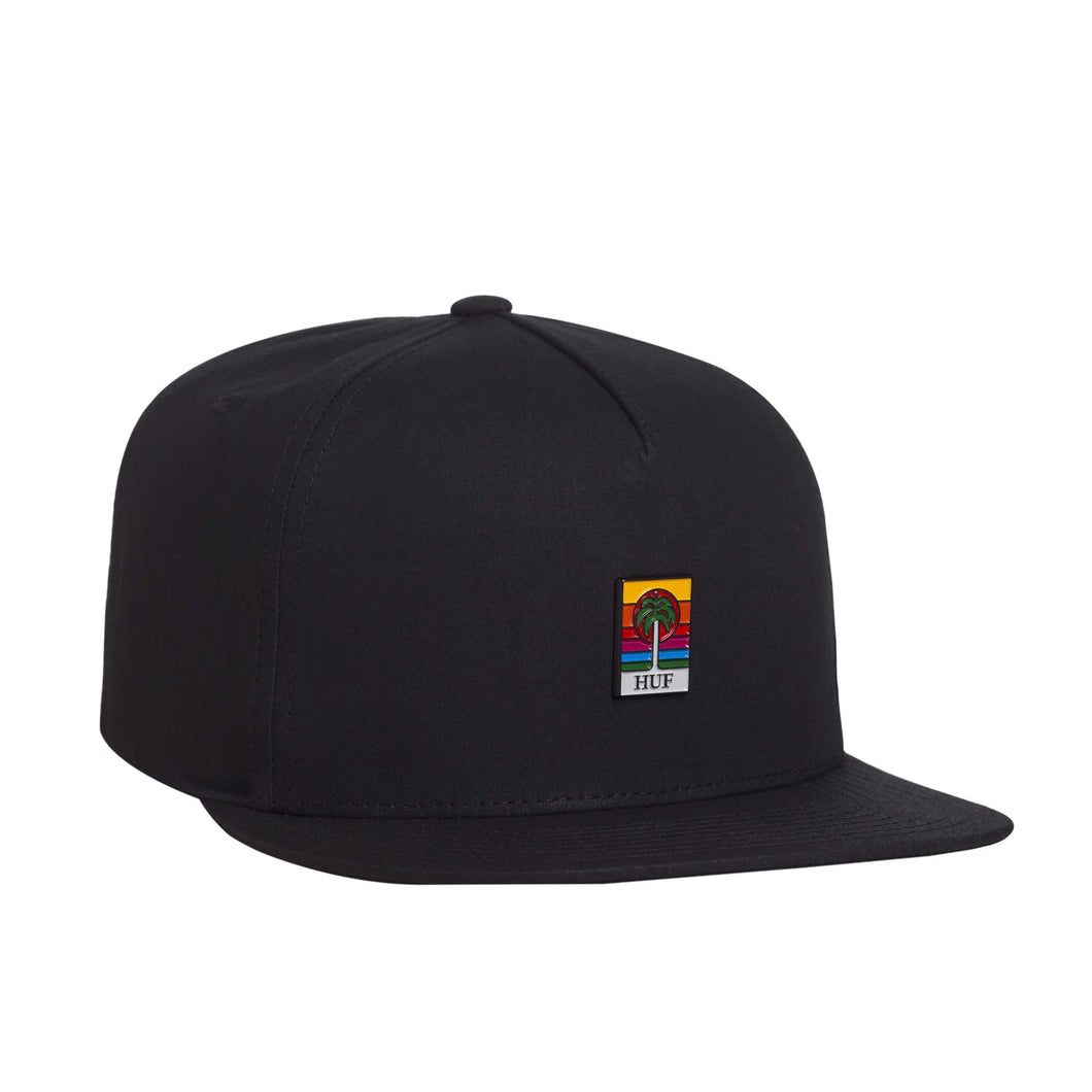 HUF Palm Snapback Hat Black