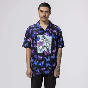 Huf Papillon Short Sleeve Woven Shirt Black