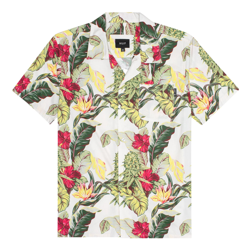 HUF Paraiso Resort Short Sleeve Woven Shirt Natural