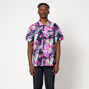 HUF Paraiso Resort Short Sleeve Woven Shirt Navy Blazer